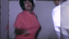 African American Black Couple Man Woman Dance 60s Vintage Film Home Movie 10042 Stock Footage