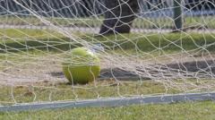 A soccer goal net. Stock Footage