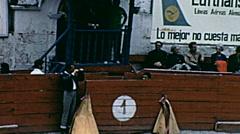 Ecuador 1970: toreros ready for bullfighting Stock Footage