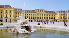 Schönbrunn Palace in 4k Stock Footage
