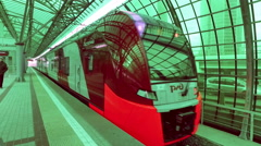 Moscow center ring passenger transport Stock Footage