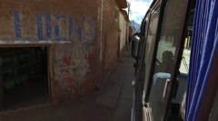 Driving in small town in andres peru Stock Footage