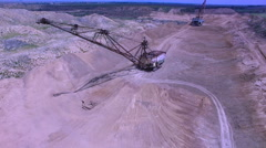 Flying in the career of an excavator Stock Footage