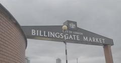 Billingsgate Market - London, England - 4K Stock Footage