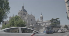 Almudena Cathedral - Santa María la Real de La Almudena - Madrid, Spain - 4K Stock Footage
