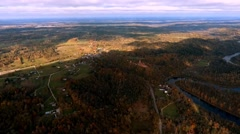 Turaida bird eye view, Sigulda, Latvia Stock Footage