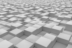 Diagonal surface made of cubes Stock Illustration