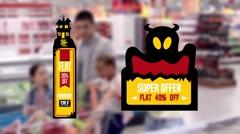 Halloween Online Sales Promotional Labels Kuvapankki erikoistehosteet
