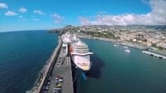 Madeira - Marina do Funchal Stock Footage