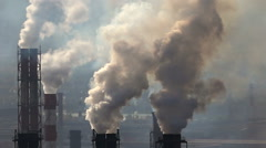 Air Pollution in Smoke Metallurgy Plant Stock Footage