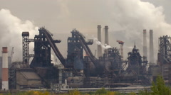 Metallurgy Production Environment Air Pollution Stock Footage