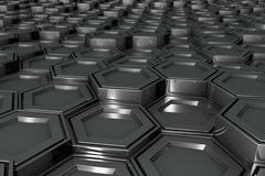 Industrial background made of metal hexagons Stock Illustration