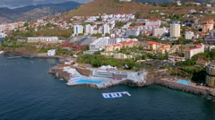 Madeira - Funchal Lido Stock Footage