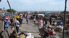 Haitian Marketplace Stock Footage