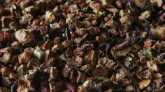 Rotation Fruit Black Tea Stock Footage