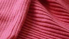 Red woolen worsted sweater pattern. can use as background. Stock Footage