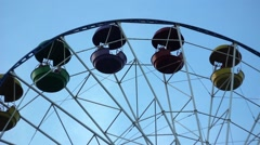 Ferris wheel in the shade Stock Footage