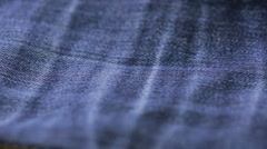 Blue jeans texture. can use as background. close-up of denim Stock Footage