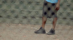 A young man basketball player dribbling before passing the ball to a teammate. Stock Footage