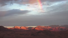 Rainbow over Death Valley, NP Stock Footage