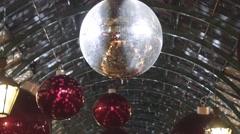 Mirrored disco Ball Stock Footage
