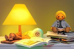Children's fairy tale for the night. Stock Illustration