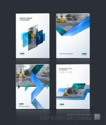 Brochure template layout, cover design annual report, magazine Stock Illustration