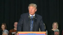 Donald Trump Rally Iowa 2016 Stock Footage