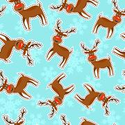 Christmas reindeer patch icon pattern background Stock Illustration