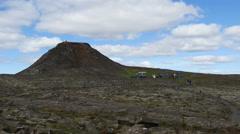 Thrihnukagigur volcano, Iceland, 4k Stock Footage
