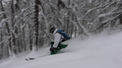 Group of skiers touring Japan. Stock Footage