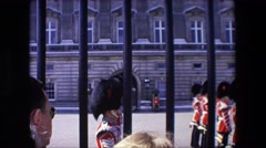 1967: english guard solid at work. LONDON ENGLAND Stock Footage