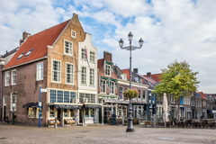Delft pottery square Stock Footage