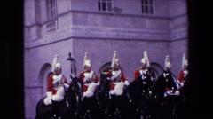 1967: men on horses LONDON ENGLAND Stock Footage