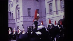 1967: fancy soldier drills LONDON ENGLAND Stock Footage