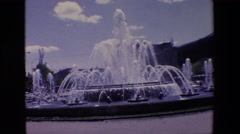1967: a fountain zoom in water puring top bottom thru MADRID SPAIN Stock Footage