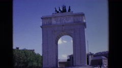1967: arco de la victoria MADRID SPAIN Stock Footage