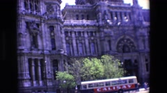 1967: view of the facade and some of its main details of a spanish monumental Stock Footage