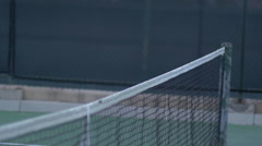 Tennis players shaking hands after match , slow motion. Stock Footage