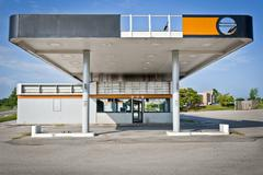 Bankrupt Gas Station Convenience Store Stock Photos