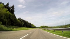 P.O.V. Video: Driving in landscape in Germany in agricultural region of the Stock Footage