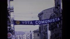 1967: vote communist PALERMO ITALY Stock Footage