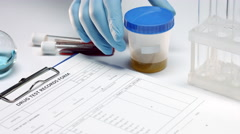 Drug test report Stock Footage