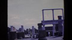 1967: former temple for the anointed ones. PALERMO ITALY Stock Footage