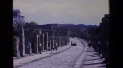 1967: lonely, quiet strip of road. PALERMO ITALY Stock Footage
