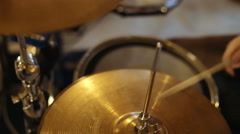 Play the drum. The drummer in action Stock Footage
