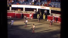 1972: the fighters are entering the arena with the escort of cavalries MAZATLAN Stock Footage