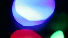 Background of blue Christmas lights defocused  footage. Stock Footage