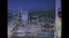 1972: one lady waving camera beautiful seaside view skyscrapers MAZATLAN MEXICO Stock Footage