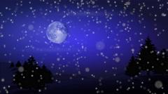 Blue christmas moon Stock Footage